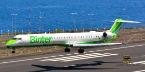 Binter: der neue Jet namens Isla Canarias wirbt für die Inseln. Foto: Carlos Díaz
