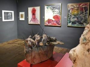 Kunstabteilung im Inselmuseum: Werke aus verschiedenen Jahrhundert - hier der Saal mit Gemälden von Urs Bärlocher. Foto: Cabildo