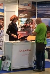 Tourismusmesse Aratur: La Palma wirbt. Foto: Cabildo