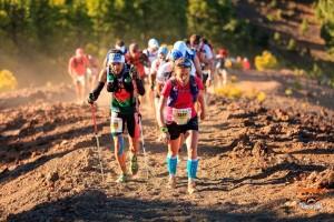 Transvulcania Media-Marathon und Kids-Rennen: Alles will ins Refugio de El Pilar. Foto: TRV-Rennleitung