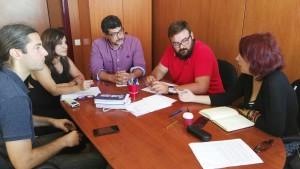 Primera reunión: Comisión de cine de la Palma y el nuevo Enfoque de Club La Palma. Foto: Cabildo