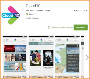 Ganz wichtig: Ohne den Download der Cloud10 App vor dem Start funktioniert das SunStream-Gucken nicht.