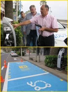 Stromzapfsäule für E-Autos: Inselinfrastrukturrat Jorge González eröffnete gestern die erste feierlich. Die