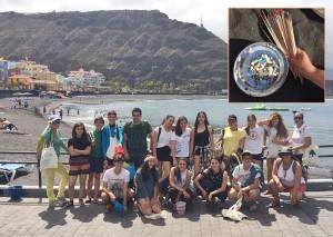Auch Kleinvieh macht Mist: Schüler aus El Paso sammelten auch kleinste Plastikteilchen am Strand von Tazacorte.