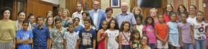 Cada año otra vez: Vacaciones para los niños del Sáhara Occidental en La Palma, y siempre hay una recepción oficial con el Presidente de la isla. Foto: Cabildo
