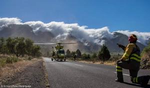 Rund 370 Feuer-Bekämpfer stehen in der Waldbrandsaison 2017 auf La Palma für den Notfall bereit: Auch die BRIF-Mannen wie hier auf dem Foto