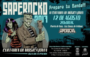 Saperocko: Junge Rockbands spielen um die Wette in Puerto Naos.