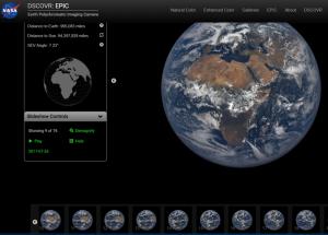 Die Erde aus dem All fotografiert: täglich 12 Bilder von unserem Planeten. Screenshot NASA-EPIC-Website