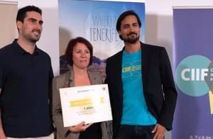 Mercedes Afonso mit dem Hub-Preis: