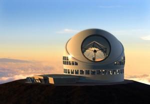 Modell des TMT-Prototyps: Die Entscheidung, ob das Thirty Meter Telescope auf Hawaii oder La Palma gebaut wird, verchiebt sich durch einen aktuellen Richterspruch in Richtung Pazifik. Foto: TMT-Konsortium