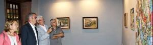 Arte Inter Lustral: Bürgermeister Sergio Matos und Inseltourismusrätin Alicia Vanoostende bei der Eröffnung in der Casa Salazar. Foto: Cabildo