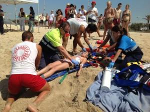 Übung der Rettungsschwimmer auf den Kanaren: