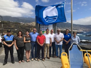 Blaue Flagge der FEE 2017: weht am Strand von Los Cancajos. Foto: Gemeinde