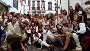 Junge Leute aus Santa Cruz de La Palma: gestalten den Piratentag in Eigenregie. Foto: Día del Corsario