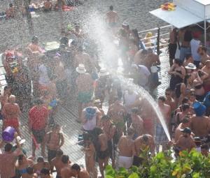 Wasserfest in Puerto Naos: Land unter an der Strandpromenade. Foto: La Palma 24