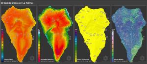 Die noch recht neue Website des Cabildo von La Palma: Wettercheck in Echtzeit.