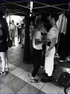 Juan Brea: backstage bei den Modeschauen des Isla Bonita Love Festivals 2017.