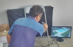 Freibad Los Llanos: Bei der Sanierung wurde auch eine Videoüberwachung installiert. Foto: Stadt
