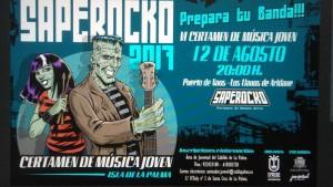 Saperocko: Nachwuchsmusiker von der Insel und Gäste beim Wettbewerb in Puerto Naos.