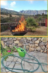 Die Waldbrandgefahr ist im extremen Bereich: offene Feuer im Garten sind verboten - beim Grillen immer einen Schlauch oder eine Gießkanne bereit halten. Fotos: La Palma 24