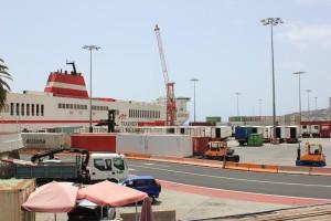 Containerhafen von Santa Cruz de La Palma: Der Umschlag von Waren nimmt zu. Foto: La Palma 24