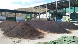 40 Tonnen Kompost in der Abfall-Anlage in Mazo erzeugt: Biomüll aus den Braunen Tonnen wird Dünger. Foto: Cabildo