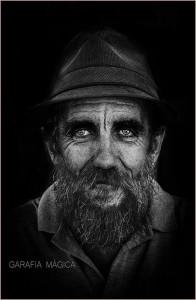 Gesichter in schwarz-weiß: Spezialität von Emilio Barrionuevo.