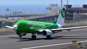 Germania: Die deutsche Airline weitet ihr Flugangebot auch auf La Palma ständig aus. Foto: Carlos Díaz La Palma Spotting