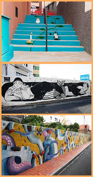 Santa Cruz - Hauptstadt der Farbe: Diese drei Projekte wurden schon realisiert. Fotos: Stadt