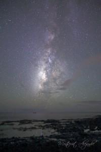 Milky Way in the last summer months nannte Montserrat Alejandre dieses Foto: Der Sternenhimmel über La Palma ist berühmt.