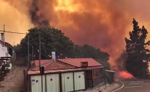 Waldbrand auf Gran Canaria: Wurde am Samstag als stabilisiert und in vier Sektoren für kontrolliert erklärt. Foto: Bomberos de Gran Canaria