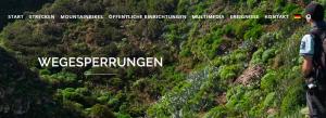 Im Zweifelsfall immer anklicken: Website der Senderos de La Palma über offene und gesperrte Wanderwege.