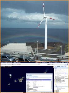 Einer der vier Windanlagen auf La Palma arbeitet schon lange zur Versorgung des Airports SPC: eine Übersicht gibt es auf der Grafcan-Website. Fotos: La Palma 24/Grafcan