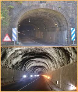 Der Alte Tunnel auf La Palma: Zwar erhellen nun LED-Lampen die Durchfahrt, aber der Fahrbahnbelag lässt schwer zu wünschen übrig. Fotos: Cabildo