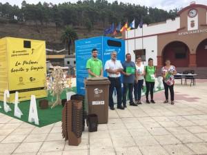 Braune Tonne für Fuencaliente: Kits zum Sammeln des Biomülls gibt es auf dem Rathaus. Foto: Cabildo