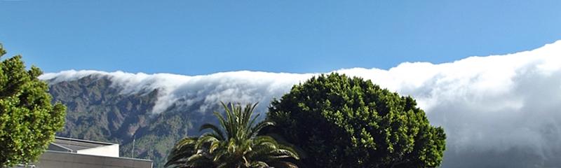 Der Wasserfall aus Wolken schwappt über die Cumbre: Eine der Besonderheiten von La Palma. Foto: La Palma 24