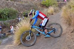 Edgar Carballo: Sieger des anspruchsvollen Downhill der ersten Transvulcania Bike 2017. Pressefoto TRV/Alexis Martín