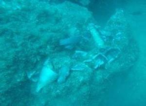 Granate in 18 Metern Tiefe vor der Ostküste von La Palma: Marine-Spezialeinheit hat sie entschärft. Foto: Marine