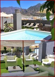 """Das """"Krönchen"""" im Hotel Benahoare: Die Dachterrasse mit Pool."""