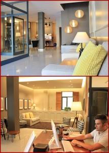 Empfangsbereich im Hotel Benahoare: