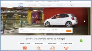 Die neue Website: Autos, Motorräder und E-Bikes können direkt gebucht werden.