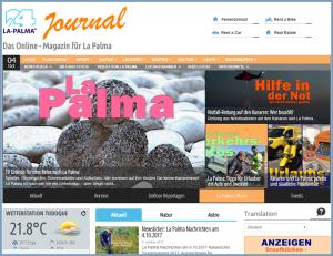 Das La Palma 24-Journal: Die jüngste Tochter der Group sorgt für Information und Unterhaltung der Inselgäste.