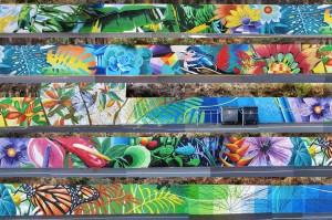 Das Werk von Sabotaje al Montaje in Santa Cruz: Matías Mata hat die insgesamt 200 Meter bemalte Mauer in einem Bild zusammengesetzt.