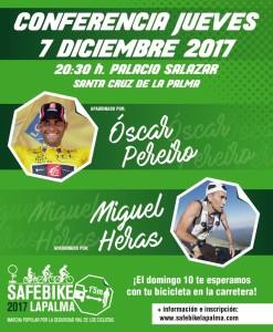 Vor dem nächsten Safe Bike La Palma: Gespräch mit den Promisportlern Óscar Pereira und Miguel Heras in der Casa Salazar in Santa Cruz de La Palma.