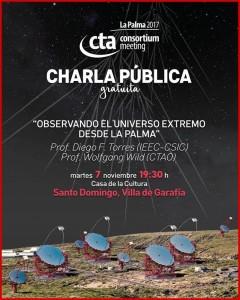 Im Rahmen der Versammlung des CTA-Konsortiums auf La Palma: Vortrag in Garafía in Sachen LSTs.