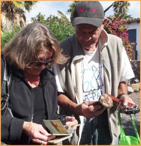 Hella und Marcel: pirschten für La Palma 24 durch den Wald.