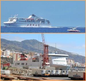 Auf La Palma kennt jeder die Armas-Fähre (oben), die die Isla Bonita mit Teneriffa verbindet. Diese Reederei