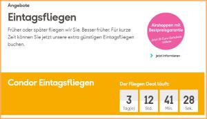 Günstige Tickets bei Condor: jetzt buchen!