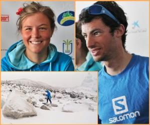 Emelie Forsberg und Kilian Jornet: Alte Bekannte auf La Palma bezwangen Gipfel im Himalaya. Fotos: La Palma 24/Filmproduktion