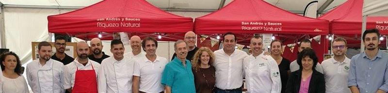 """Die Macher aus San Andrés y Sauces: Dank Ihrer Arbeit war das erste """"Festival de Sabores"""" ein voller Erfolg. Foto: Cabildo"""